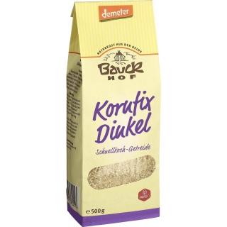 Bauckhof Bio Demeter Kornfix Dinkel Schnellkoch-Getreide