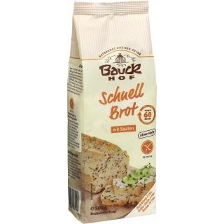 Bauckhof Bio Schnellbrot Mischung mit Saaten glutenfrei