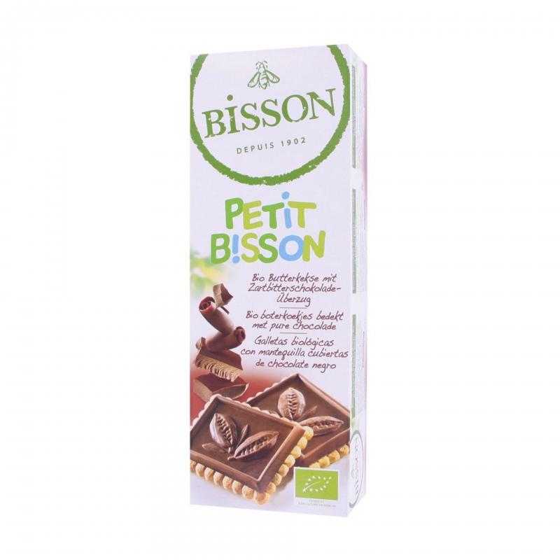 Bisson Bio Butterkekse mit Zartbitterschokolade