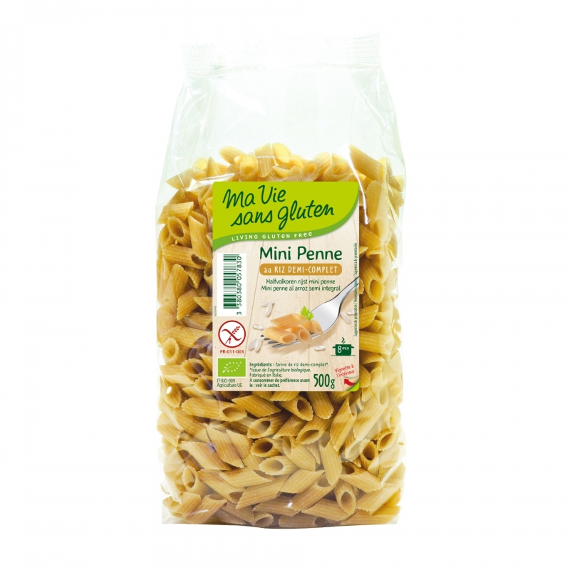 Ma vie sans Gluten Bio Mini Penne Reis Halbvollkorn