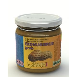 Monki Bio Erdnussmus Crunchy mit Salz