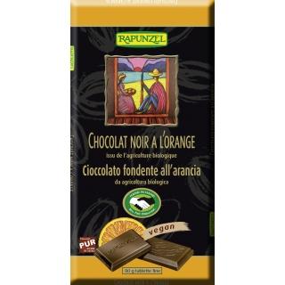 Rapunzel Bio Chocolat noir à lorange