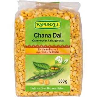Rapunzel Bio Chana Dal Kichererbsen halb