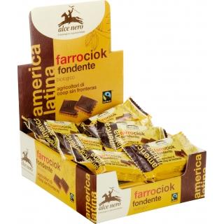 Alce Nero Bio farrociok fondente - Dinkelkekse mit Schokolade