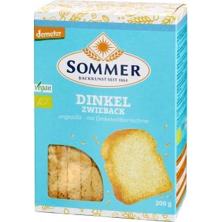 Sommer Bio Demeter Dinkel Zwieback ungesüsst