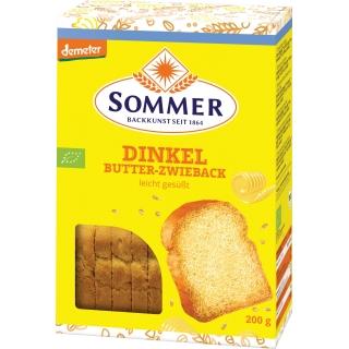 Sommer Bio Demeter Dinkel Butter Zwieback leicht gesüsst