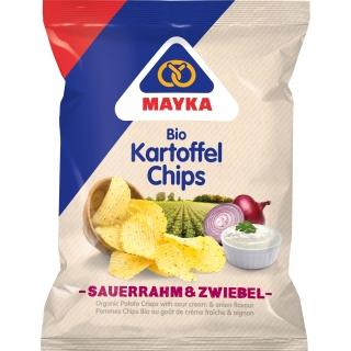 Mayka Bio Chips Sauerrahm und Zwiebel