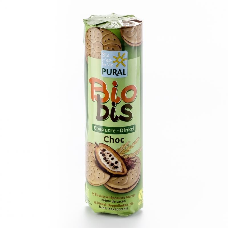 Pural Bio Dinkel-Doppelkekse mit Schokolade