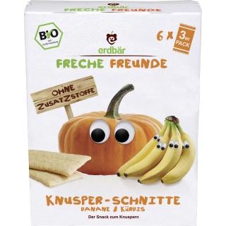 Freche Freunde Bio Knusper-Schnitte Banane und Kürbis
