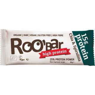 Roobar Bio Rohkost Protein Riegel Chia und Spirulina