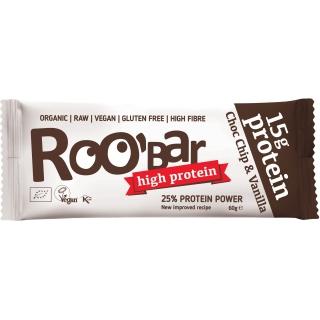 Roobar Bio Rohkost Protein Riegel Choc Chip und Vanilla