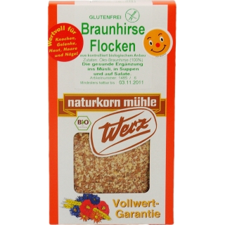 Werz Bio Braunhirse Flocken glutenfrei