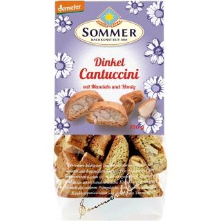 Sommer Bio Demeter Dinkel Cantuccini mit Mandeln und Honig