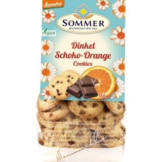 Sommer Bio Demeter Dinkel Schoko-Orange Cookies