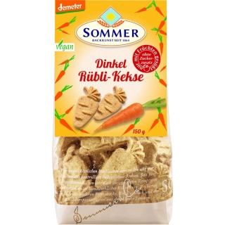 Sommer Bio Demeter Dinkel Rübli-Kekse