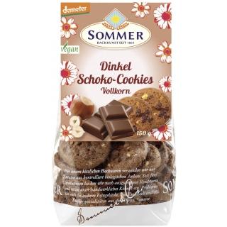 Sommer Bio Demeter Dinkel Schoko Vollkorn-Cookies