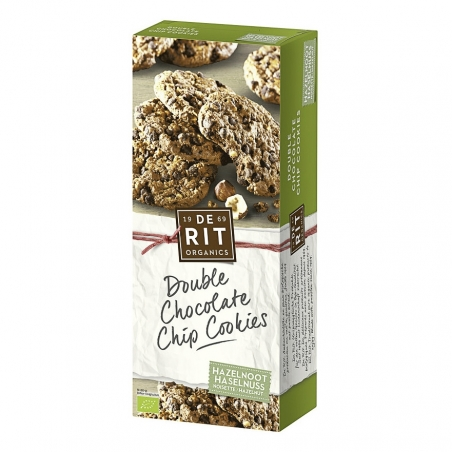 De Rit Bio Double Chocolate Chip Cookies Haselnuss
