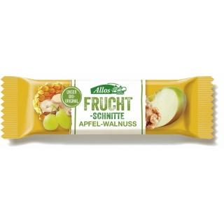 Allos Bio Fruchtschnitte Apfel-Walnuss