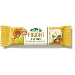 Allos Bio Fruchtschnitte Banane-Mandel
