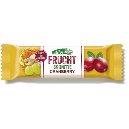 Allos Bio Fruchtschnitte Cranberry