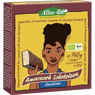 Allos Bio Amaranth-Zartbitter Schokoletten