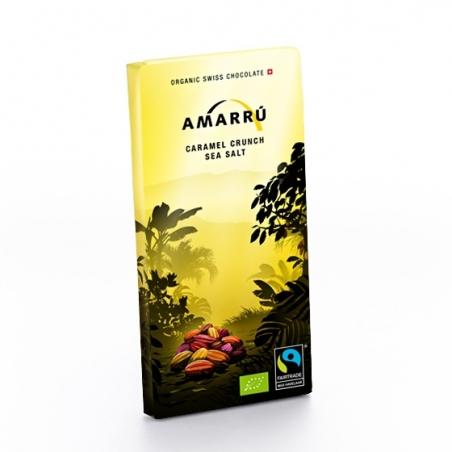 Amarru Bio Edelbitterschokolade 55 Prozent Caramel-Salz