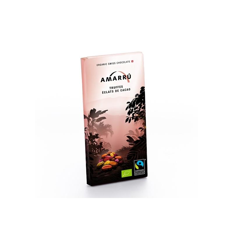 Amarru Bio Edelbitterschokolade 55 Prozent Kakaosplitter