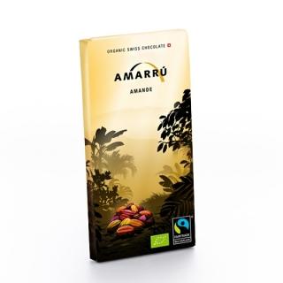 Amarru Bio Edelbitterschokolade 55 Prozent mit Mandeln