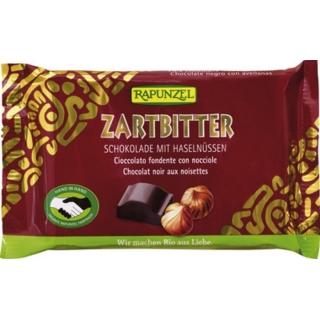 Rapunzel Bio Schokolade Cristallino Zartbitter mit Haselnüssen