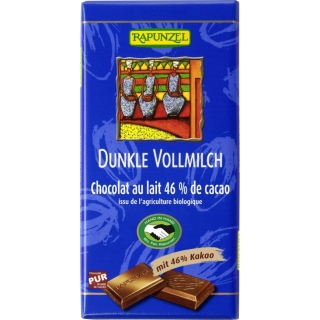 Rapunzel Bio Schokolade 46 Prozent Dunkel Vollmilch HIH