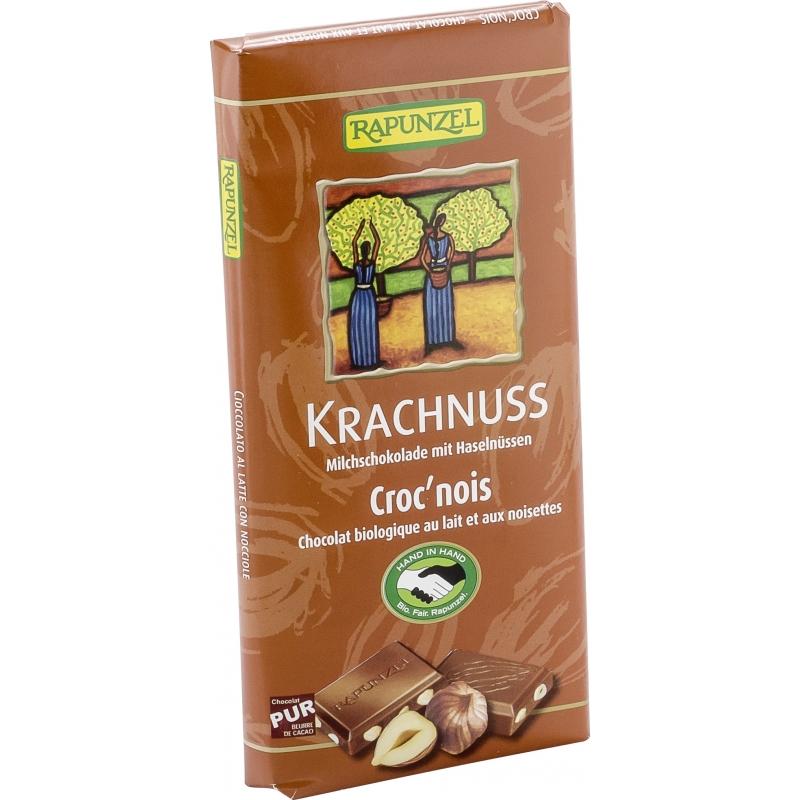 Rapunzel Bio Vollmilchschokolade Krachnuss mit Haselnüssen
