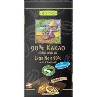 Rapunzel Bio Schokolade 90 Prozent Kakao mit Kokosblütenzucker