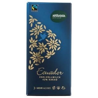 Naturata Bio Edelvollmilchschokolade Ecuador 42 Prozent