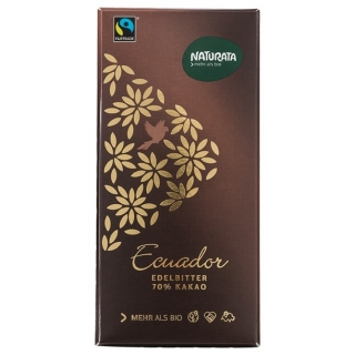 Naturata Bio Edelbitterschokolade Ecuador 70 Prozent