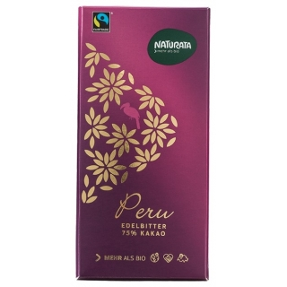 Naturata Bio Edelbitterschokolade Peru 75 Prozent