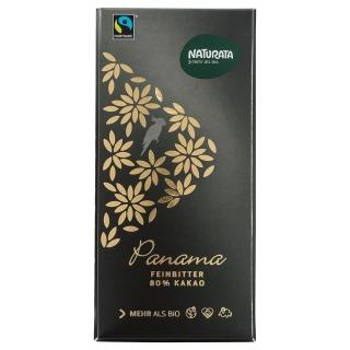 Naturata Bio Feinbitterschokolade Panama 80 Prozent