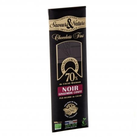 SaveursundNature Bio Schokolade 70 Prozent kandierter Ingwer