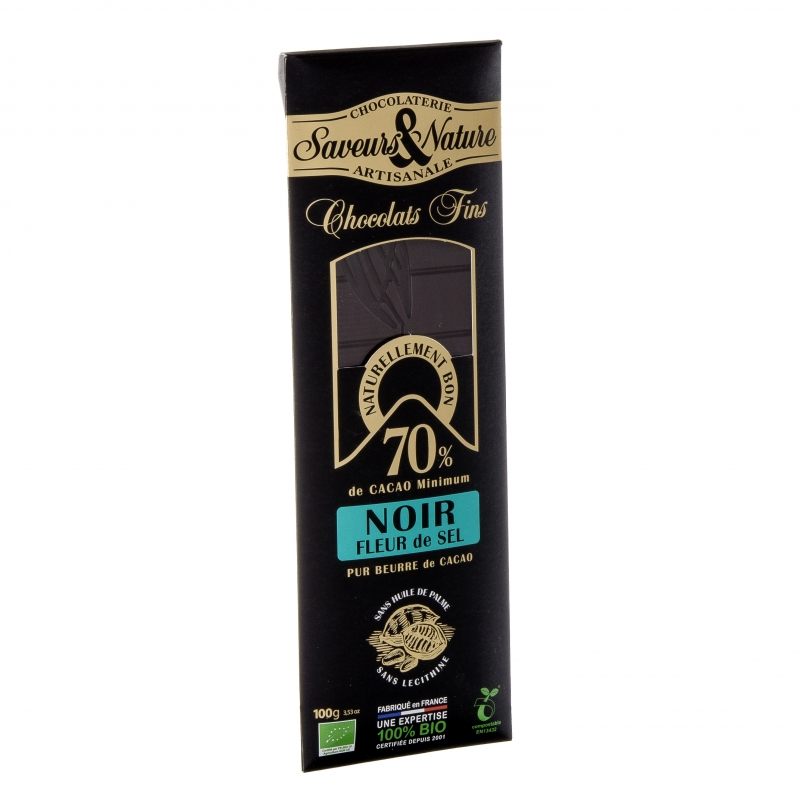 SaveursundNature Bio Schokolade 70 Prozent Fleur de Sel