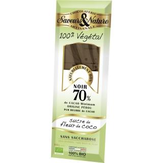 SaveursundNature Bio Schokolade 70 Prozent Kokosblütenzucker
