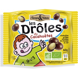SaveursundNature Bio Drôles - Schoko-Erdnüsse