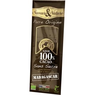 SaveursundNature Bio Schokolade 100 Prozent Kakao Madgas