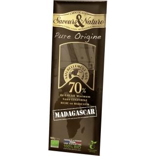 SaveursundNature Bio Schokolade 70 Prozent  Madagaskar