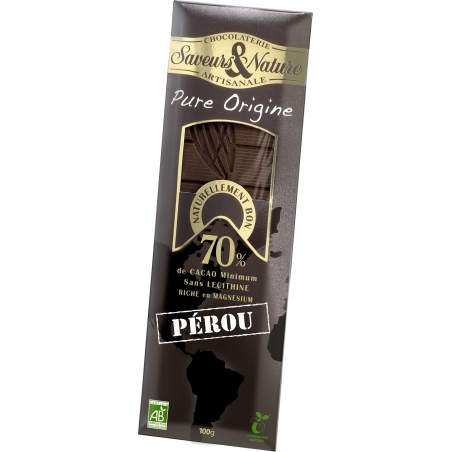 SaveursundNature Bio Schokolade 70 Prozent  Peru
