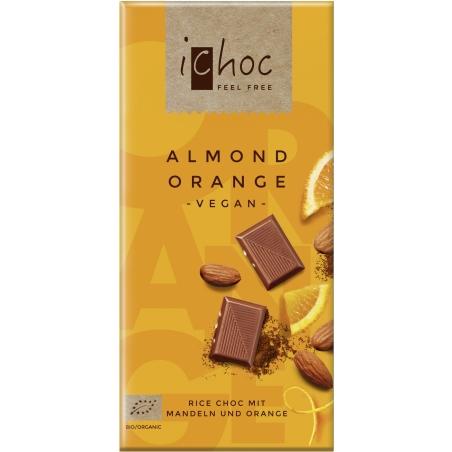 IChoc Bio Reisdrink-Schokolade mit Mandeln und Orange