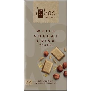 IChoc Bio Weisse Reisdrink-Schokolade Nougat-Crisp