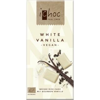 IChoc Bio Weisse Reisdrink-Schokolade mit Vanille