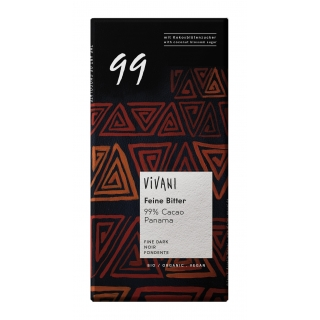 Vivani Bio Feine Bitter Schokolade 99 Prozent Kakao