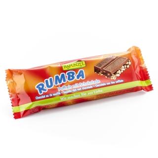 Rapunzel Bio Rumba Riegel Puffreis mit Vollmilchschokolade