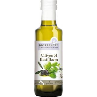 Bio Planète Bio Olivenöl und Basilikum