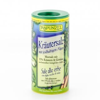 Rapunzel Bio Kräutersalz mit jodhaltigen Algen Streudose